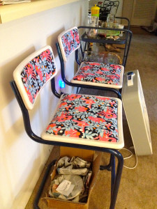 Lilly Pulitzer Inspired Bar Stools