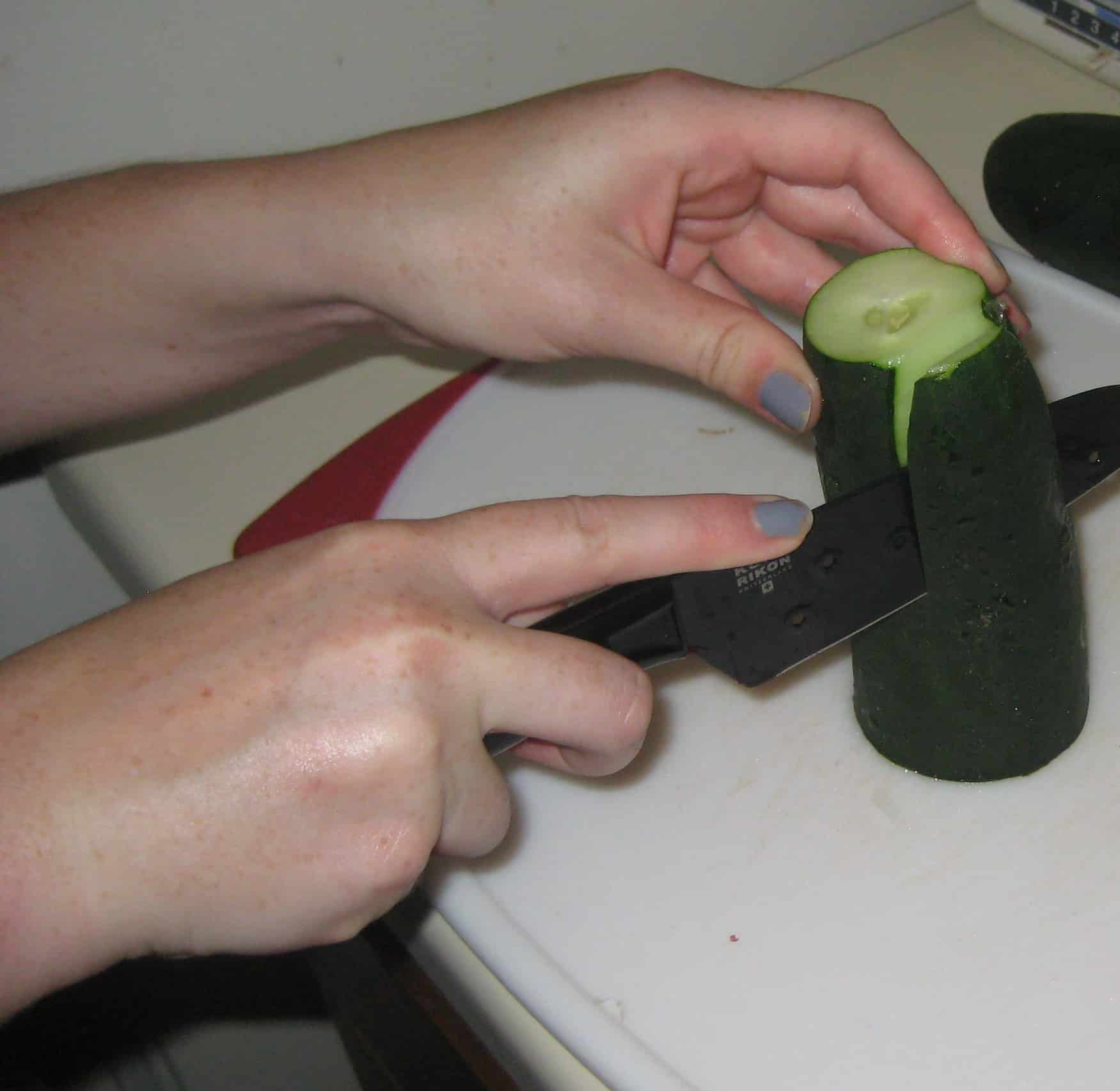 How to Dice a Cucumber - Charleston Crafted