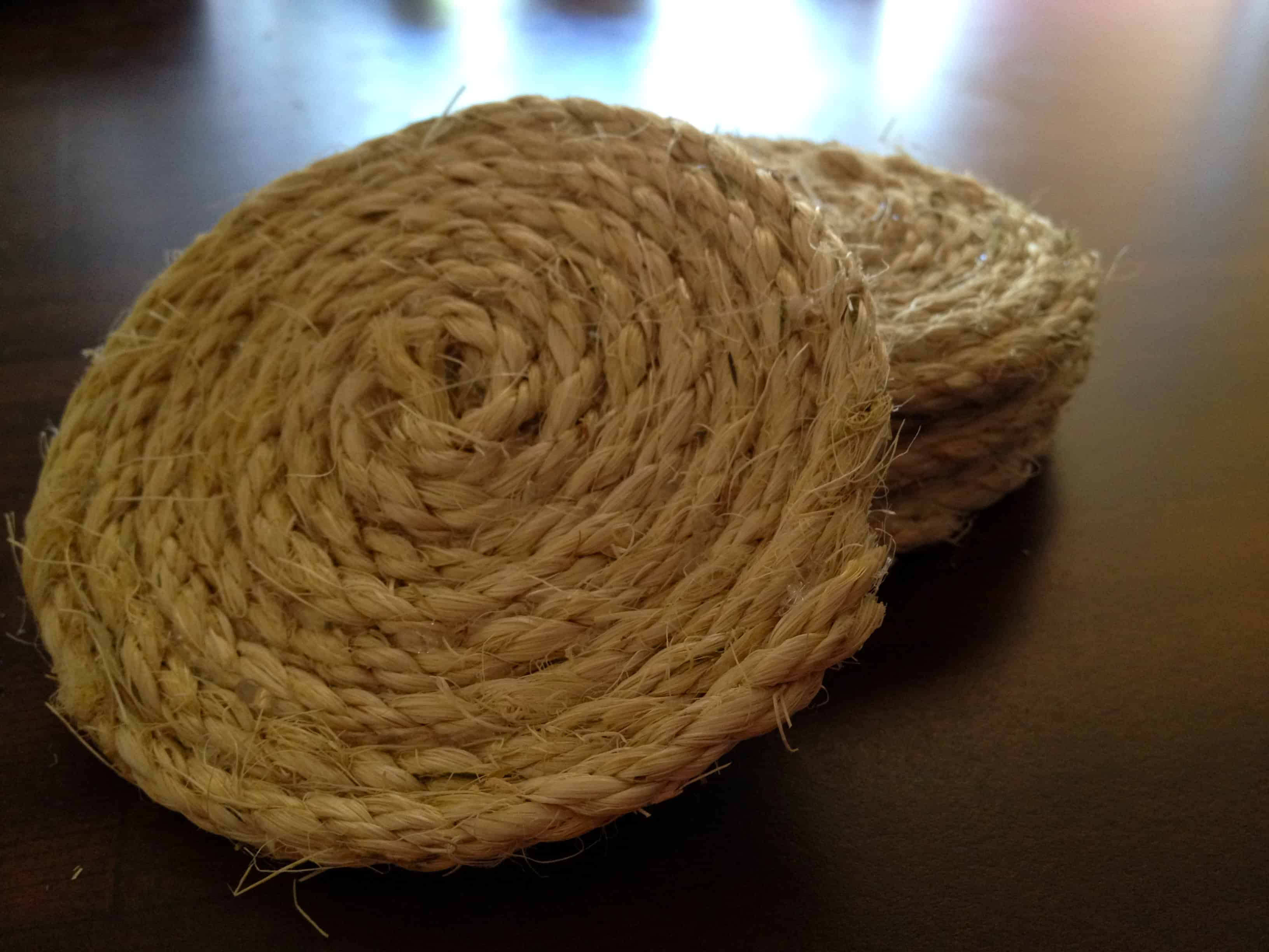 Spiral Rope Coasters - Charleston Crafted