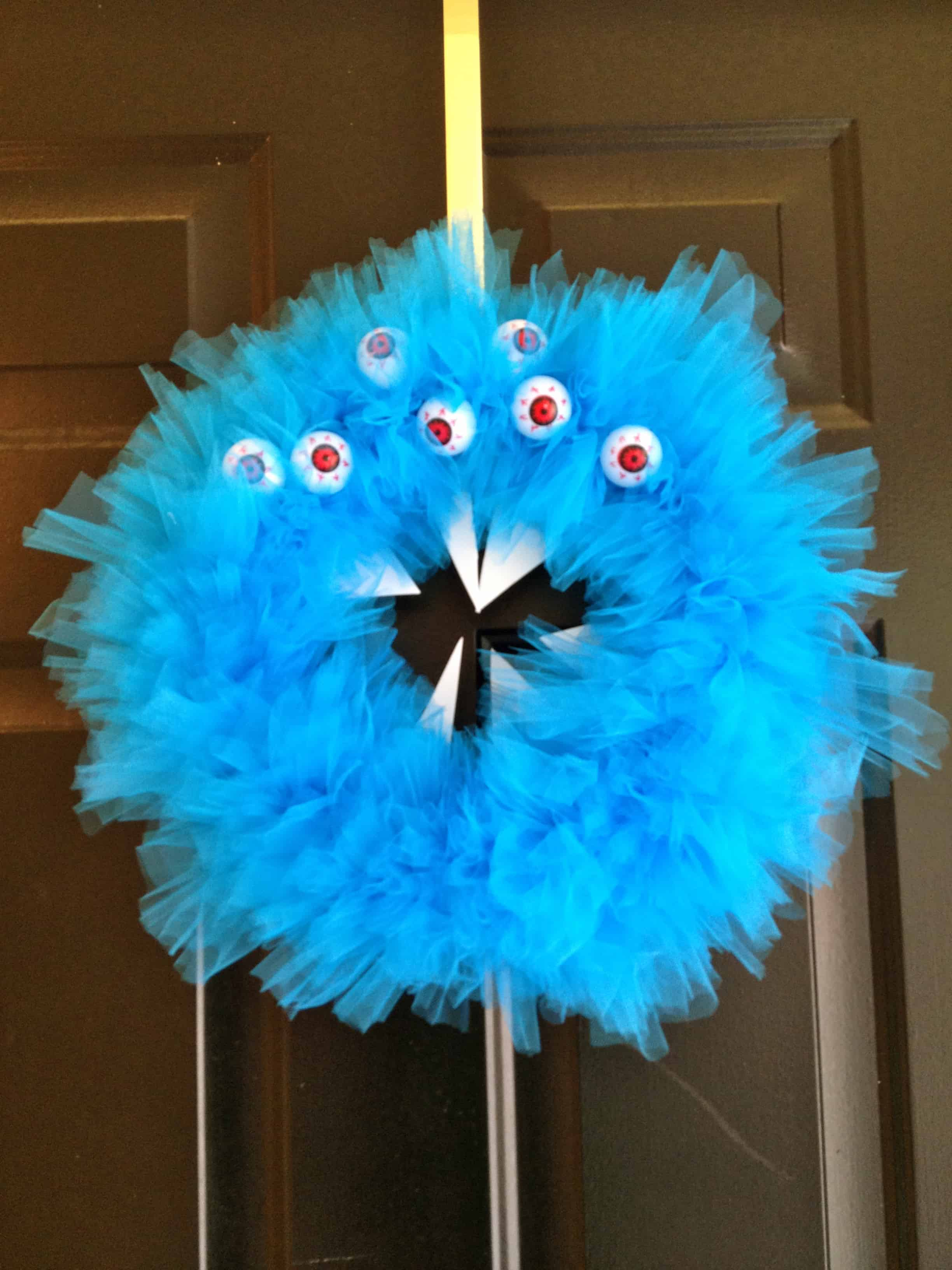 rawr a scary monster halloween wreath charleston crafted. Black Bedroom Furniture Sets. Home Design Ideas