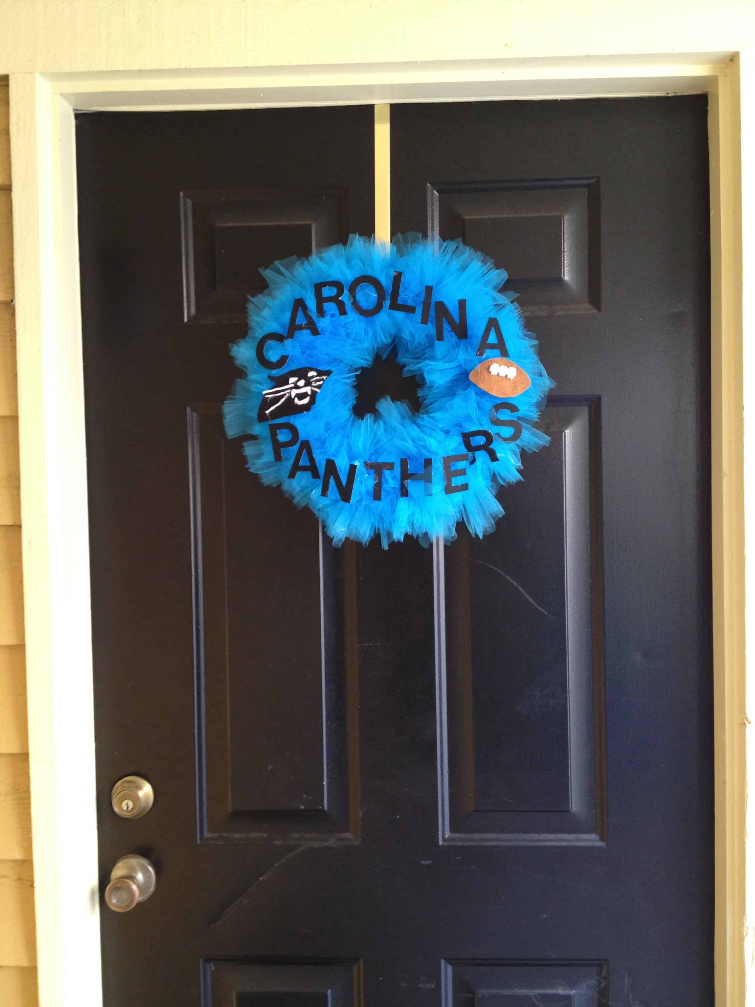 Halloween Monster to Panthers Football Wreath!