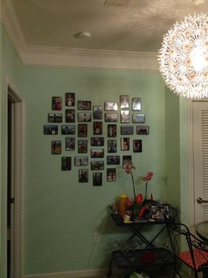 heart gallery wall