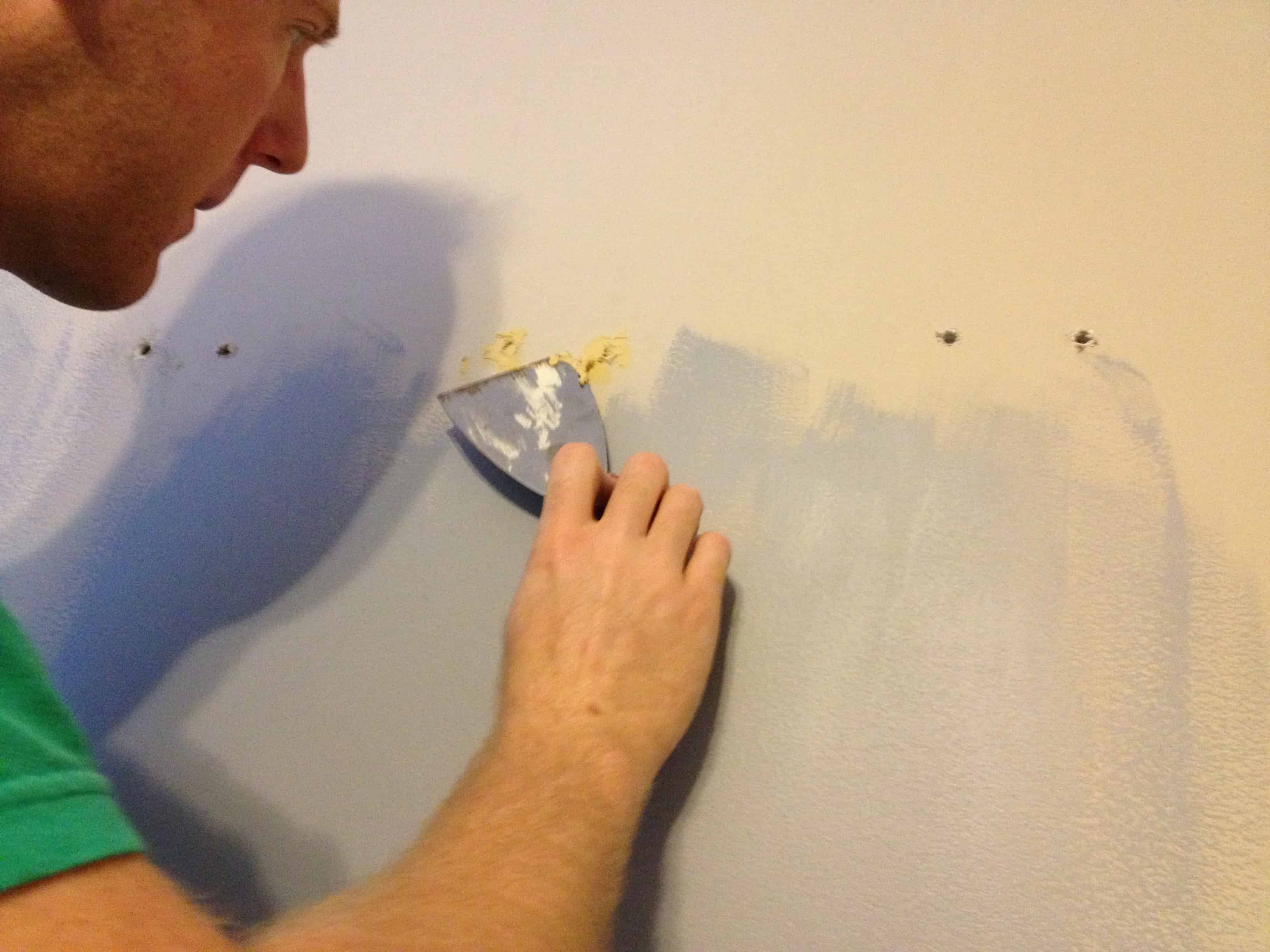 Prepping for Painting- Patching Holes in the Wall
