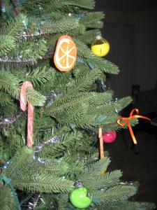 Citrus Christmas Felt Ornaments