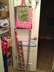 Gift Wrap Door Organization
