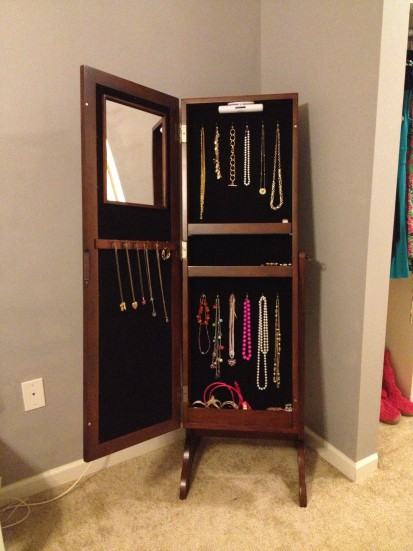 Christmas Gift Update- My New Jewelry Armoire!
