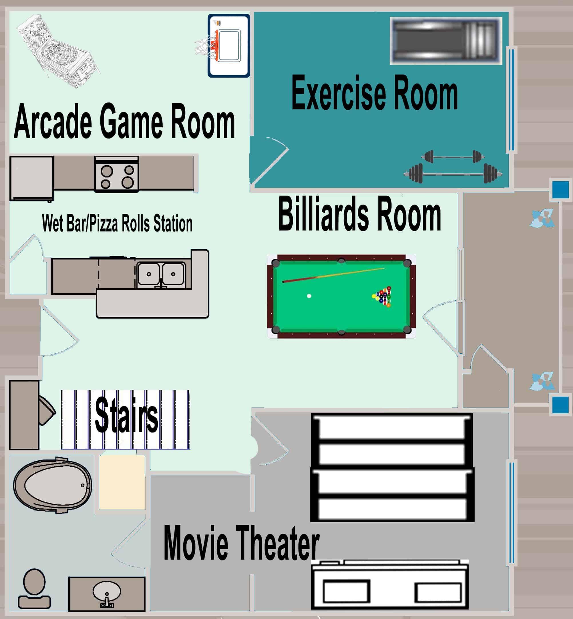 Lower Level Floor Plan - Charleston Crafted