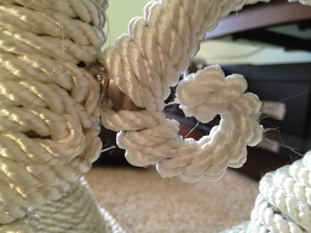 DIY Nautical rope Chandelier - Charleston Crafted