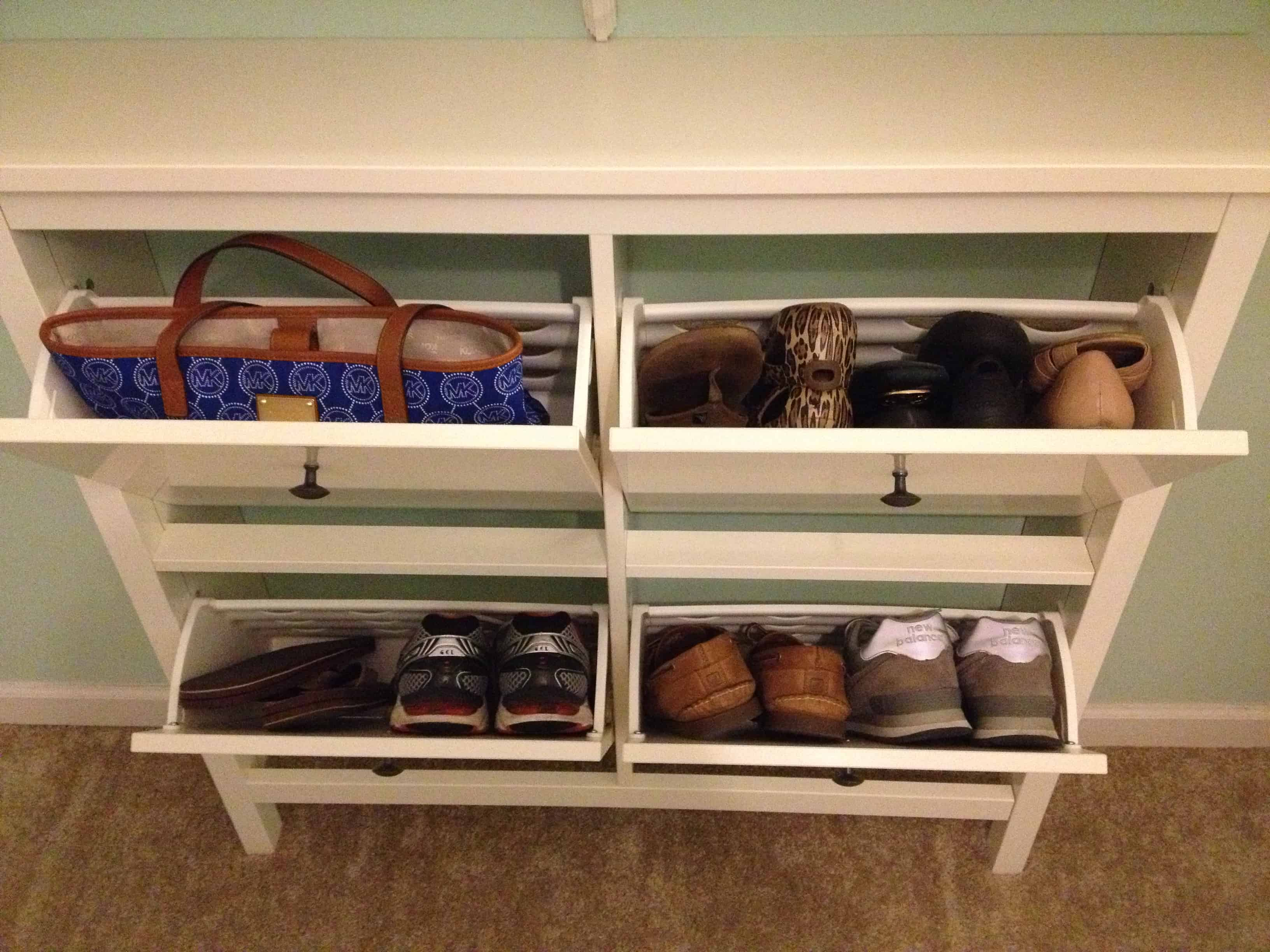 Entryway storage shoes simple home decoration for Foyer storage ideas