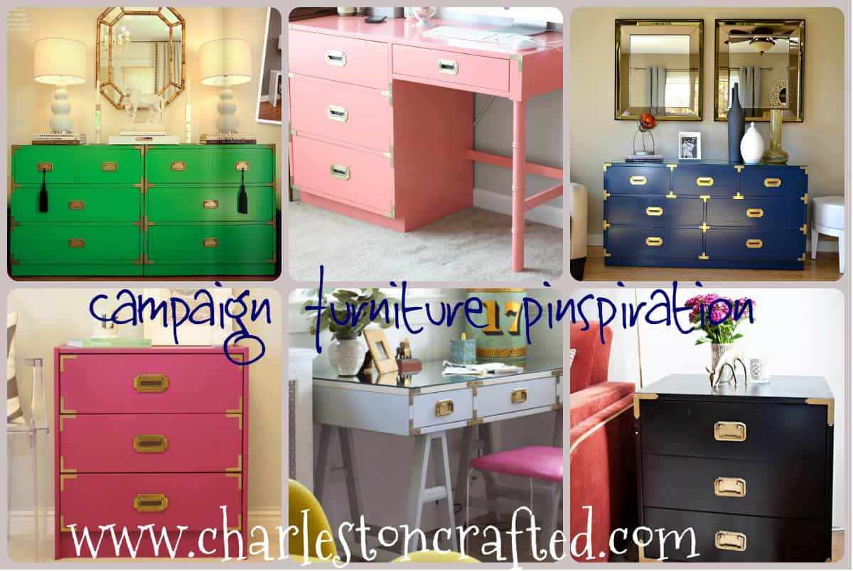 Colored Furniture feeling pinspired - campaign furniture! • charleston crafted