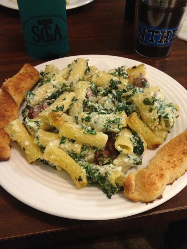 Sausage Spinach Pasta Bake - Charleston Crafted