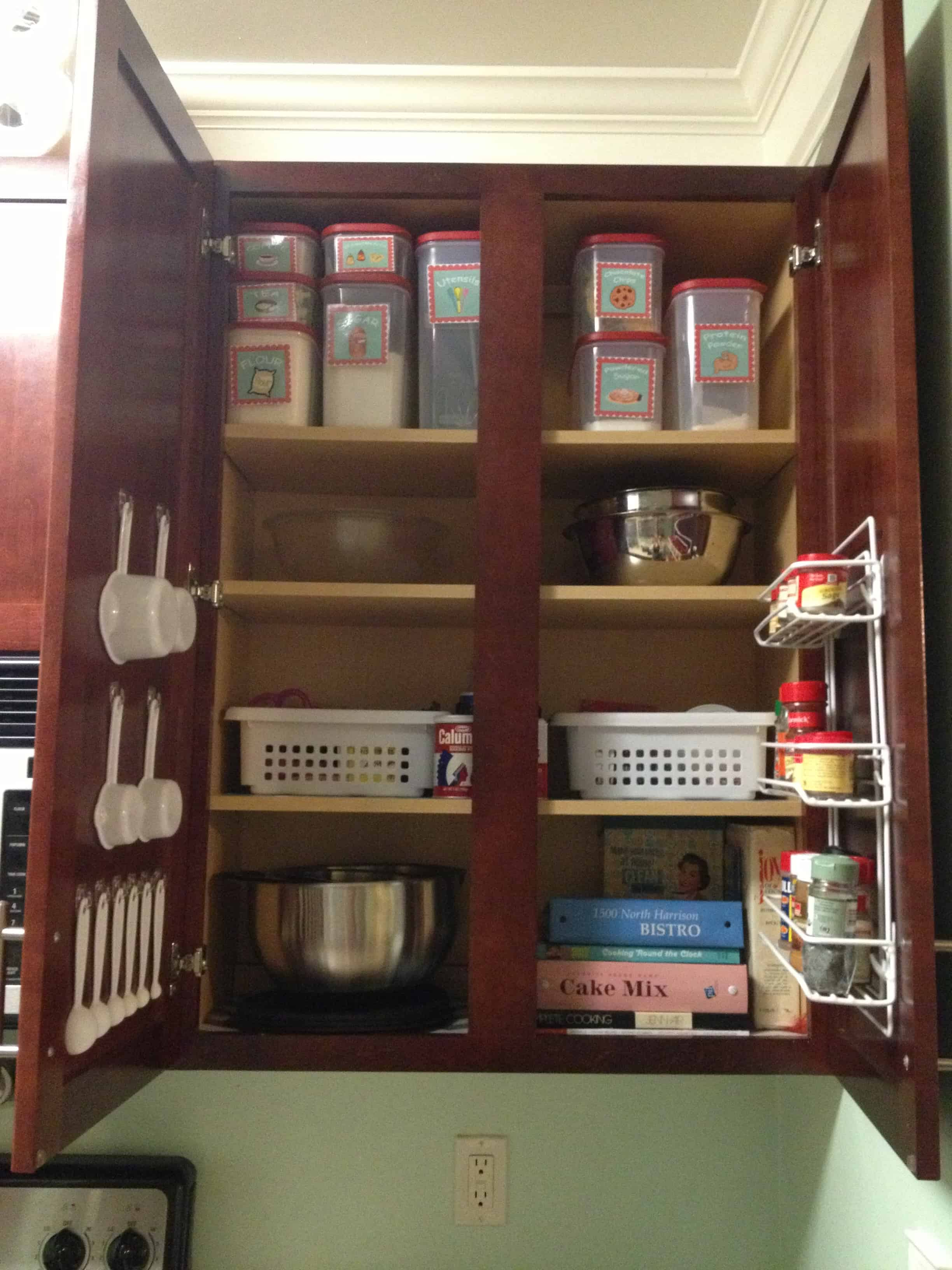 Kitchen Organization Creating A Baking Cabinet