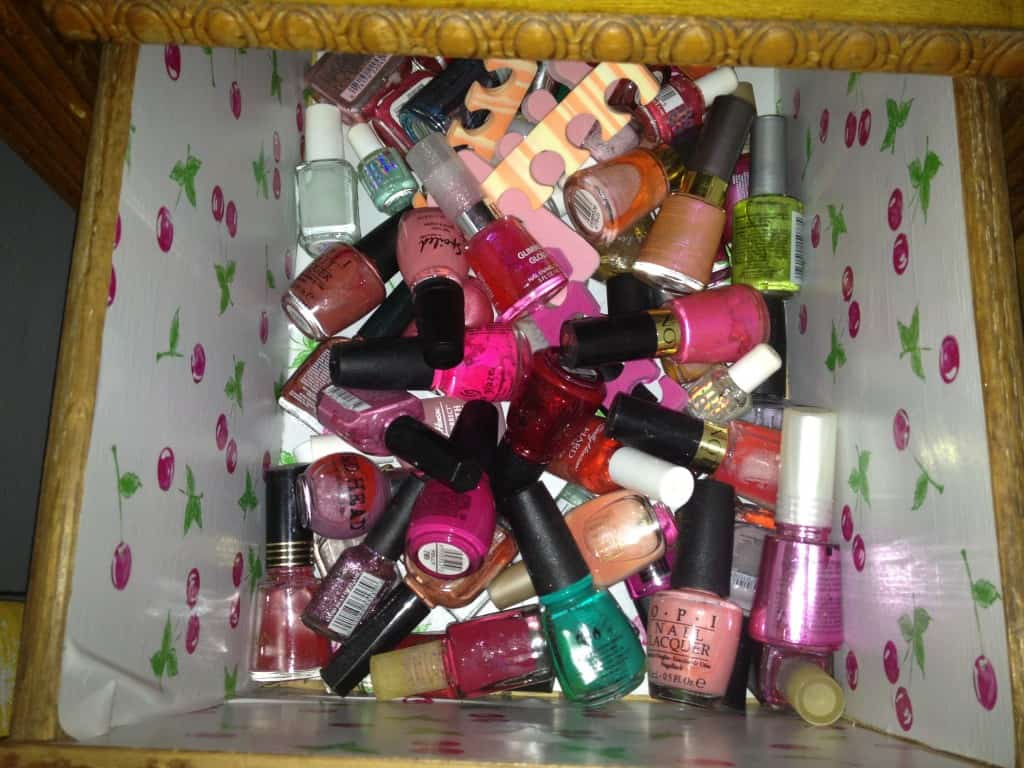 Nail Polish Organization - Before - Charleston Crafted