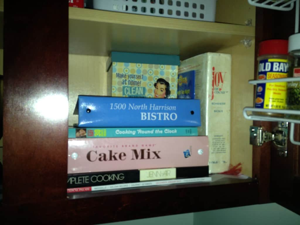 recipe book storage