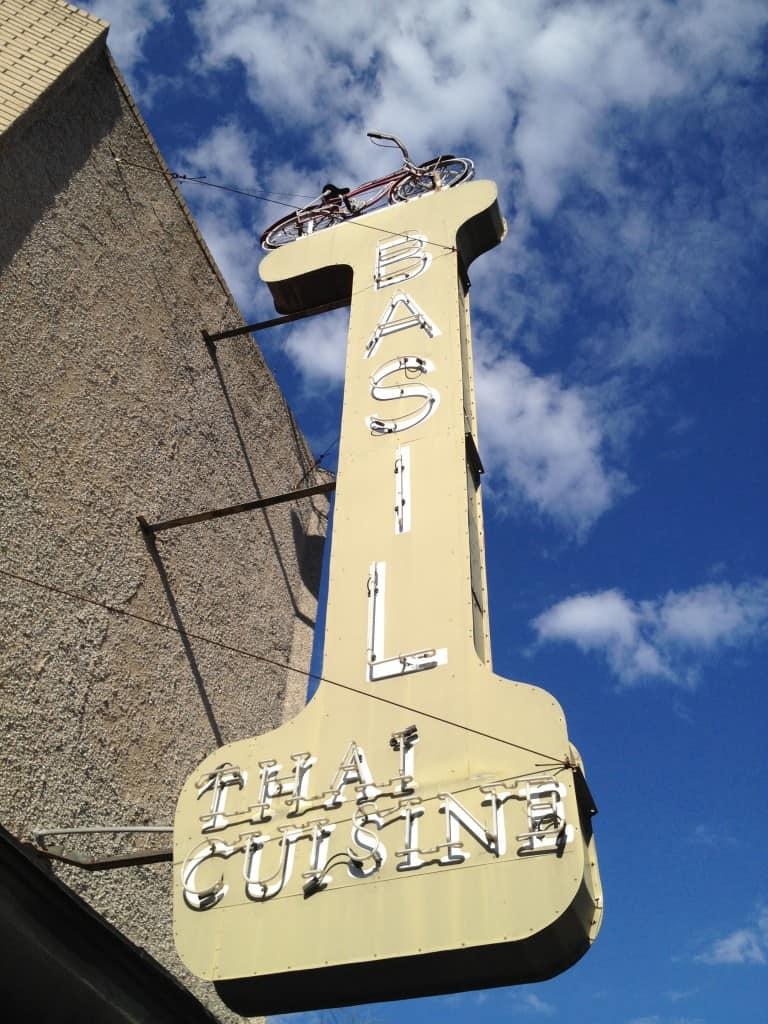 BASIL Restaurant Sign
