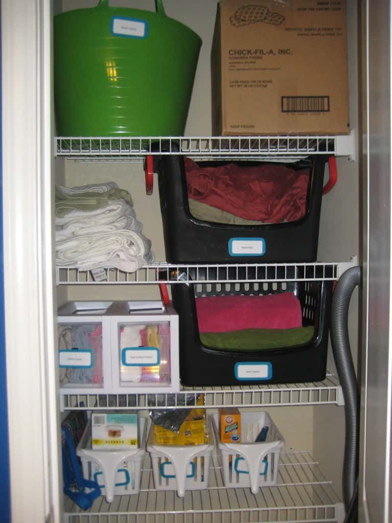 Linen Closet After - Charleston Crafted