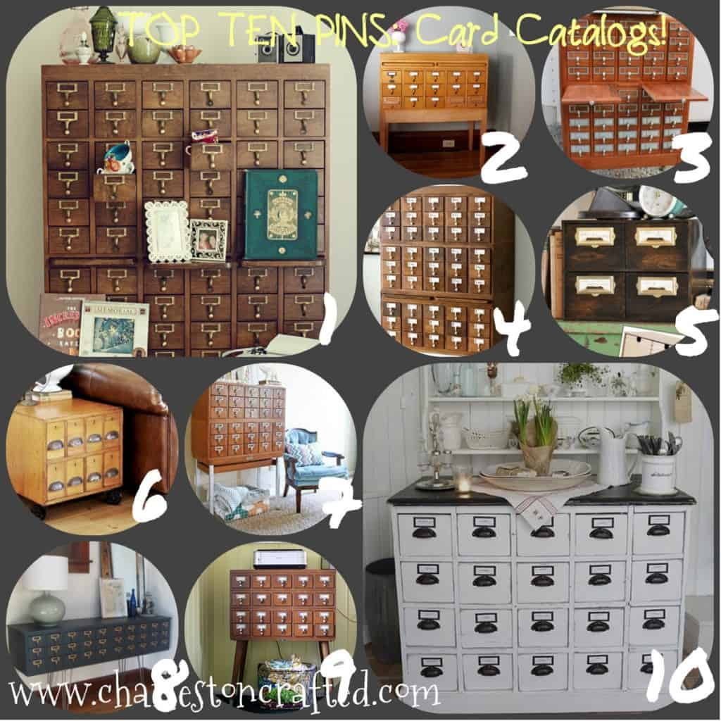 card catalog collage