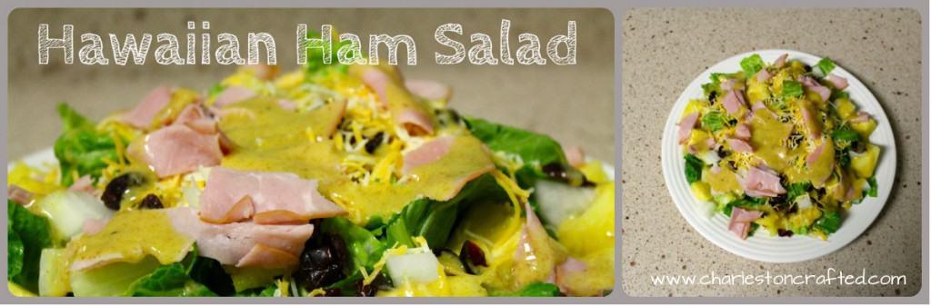 hawaiian ham salad collage
