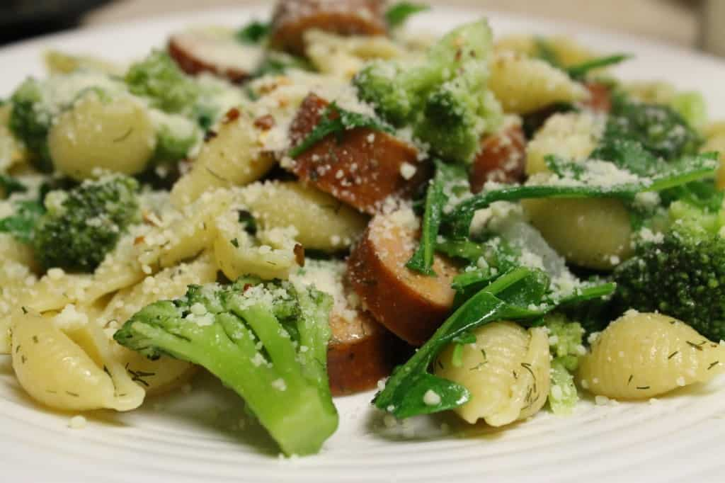Chicken Sausage and Broccoli Pasta - Charleston Crafted