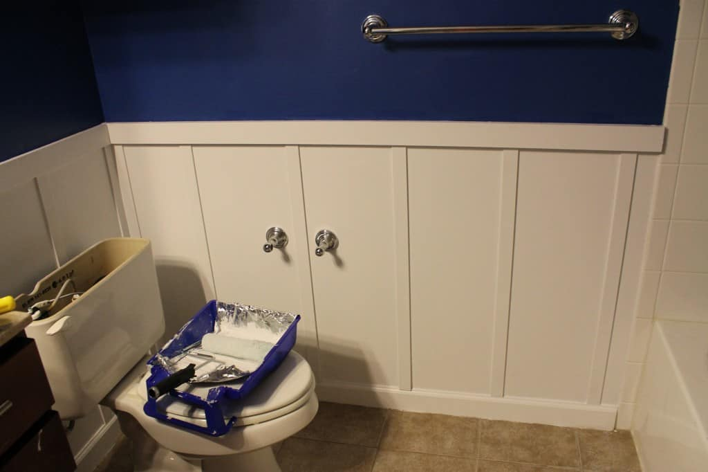 DIY Board and Batten Bathroom - Charleston Crafted