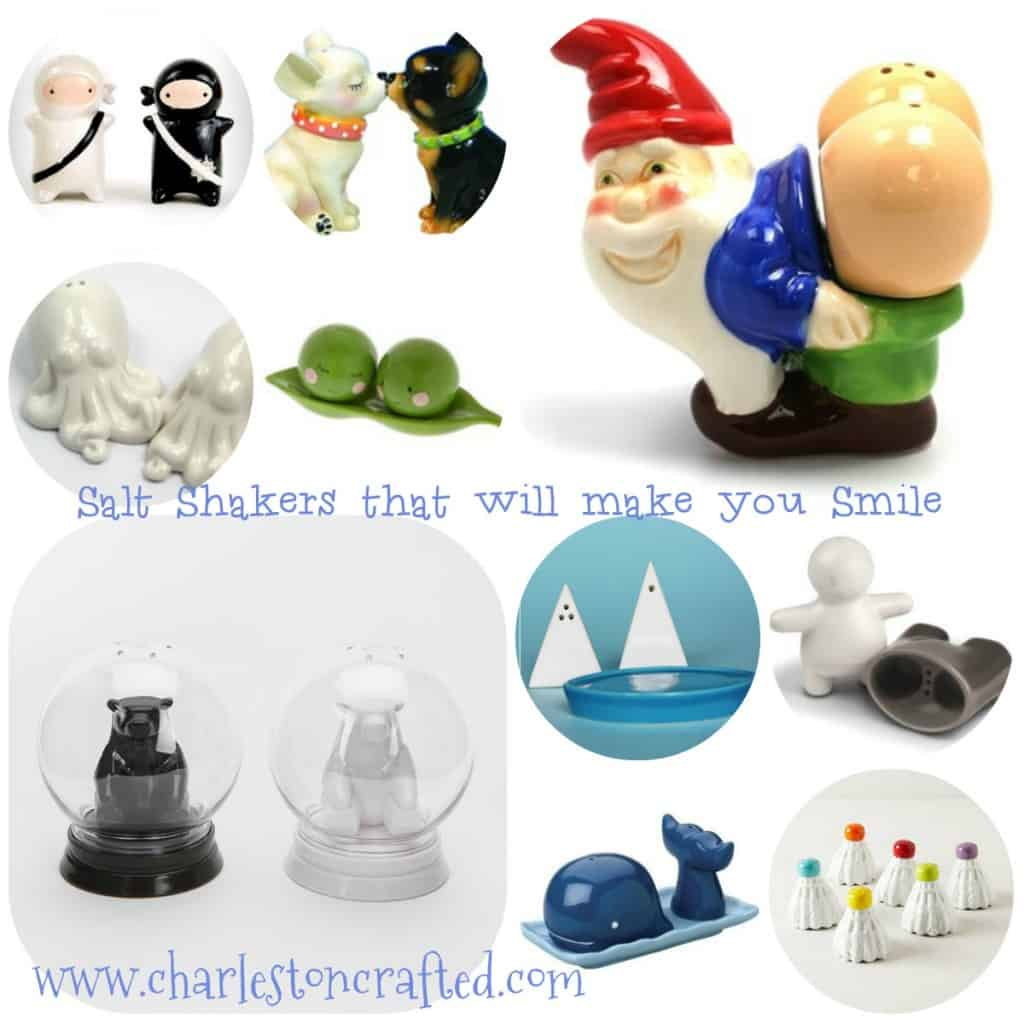 Salt and Pepper Shakers that will make you Smile - Charleston Crafted