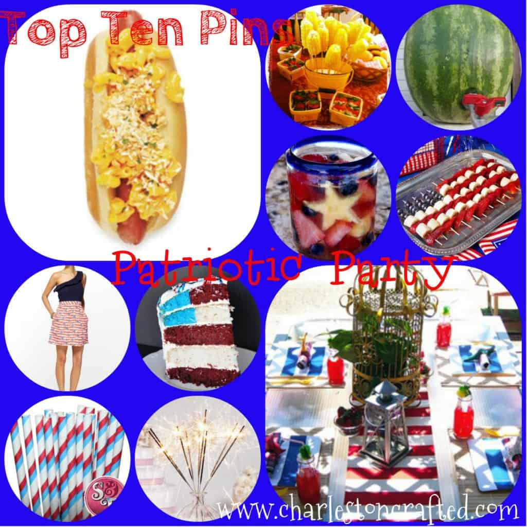Top Ten Pins Patriotic PArty