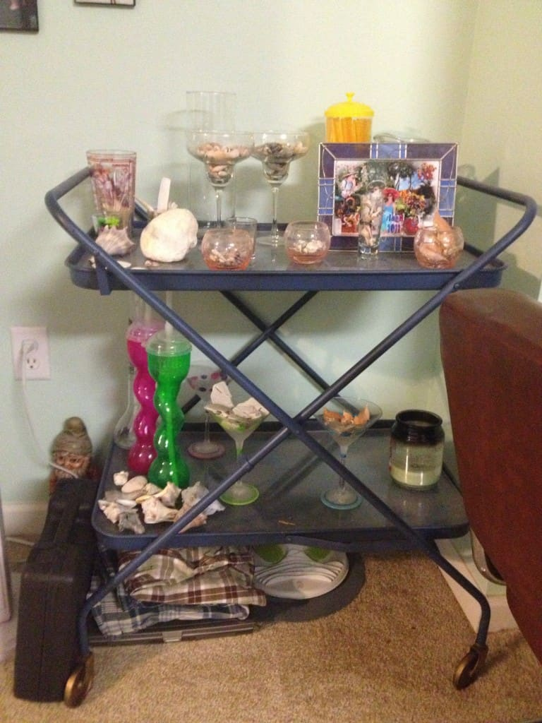 Bar Cart Before - Charleston Crafted