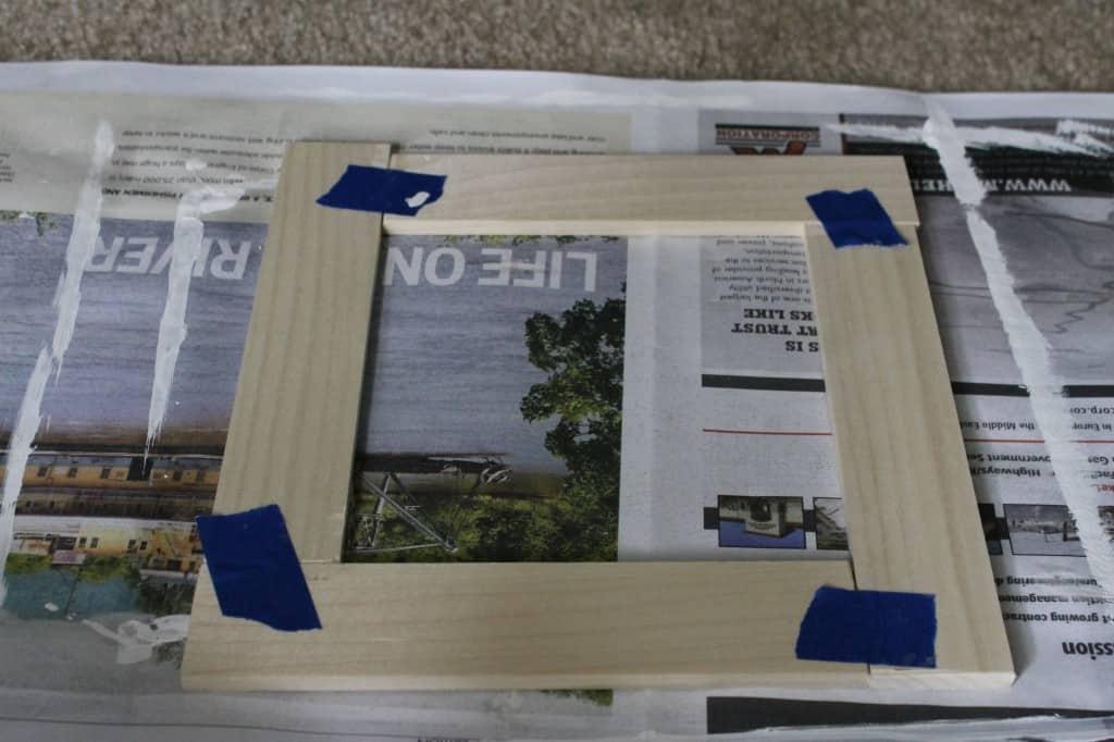 DIY Frame from Magazine Strips! Charleston Crafted