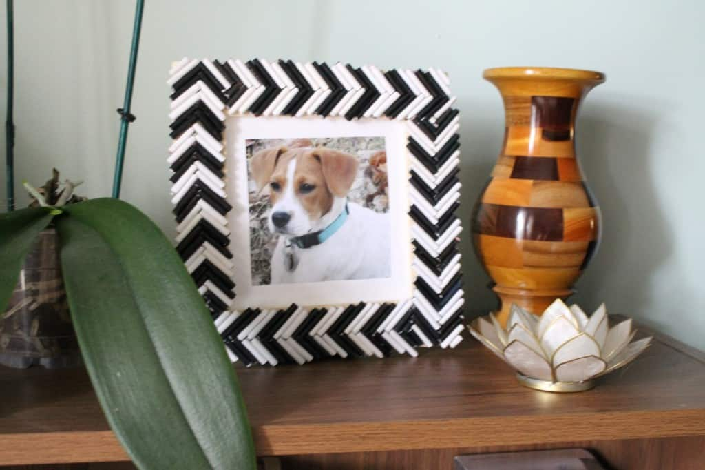 DIY Frame from Magazine Strips! Charleston Crafted