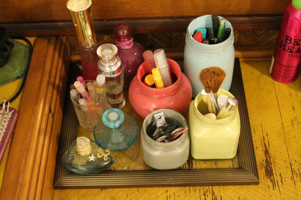 Turn a picture frame into a glass tray - Charleston Crafted