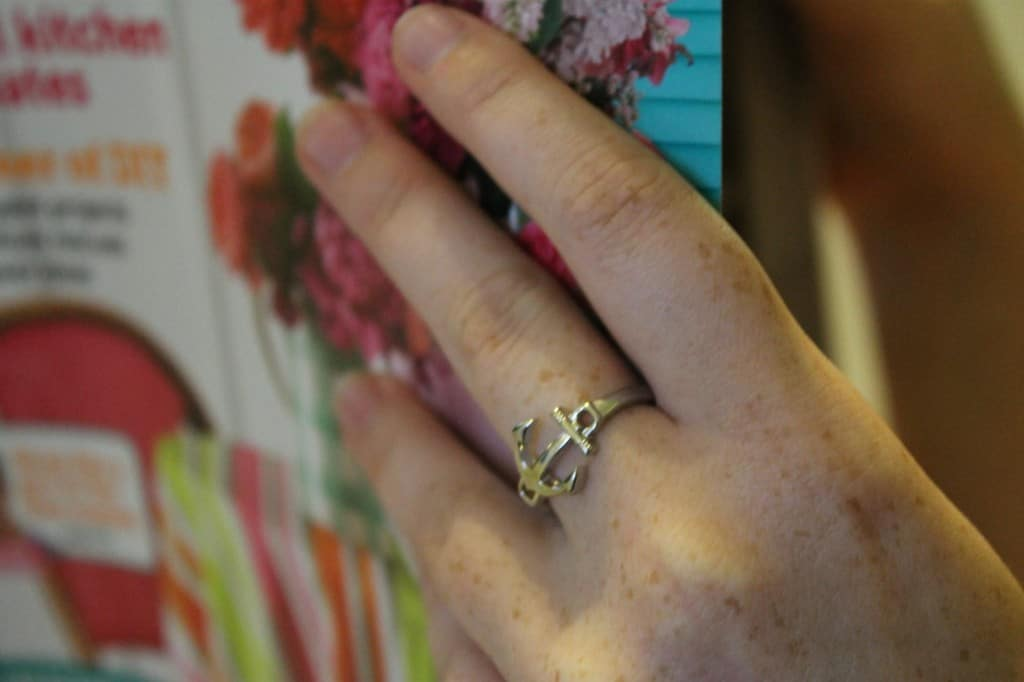 Silver Anchored Ring - Charleston Crafted