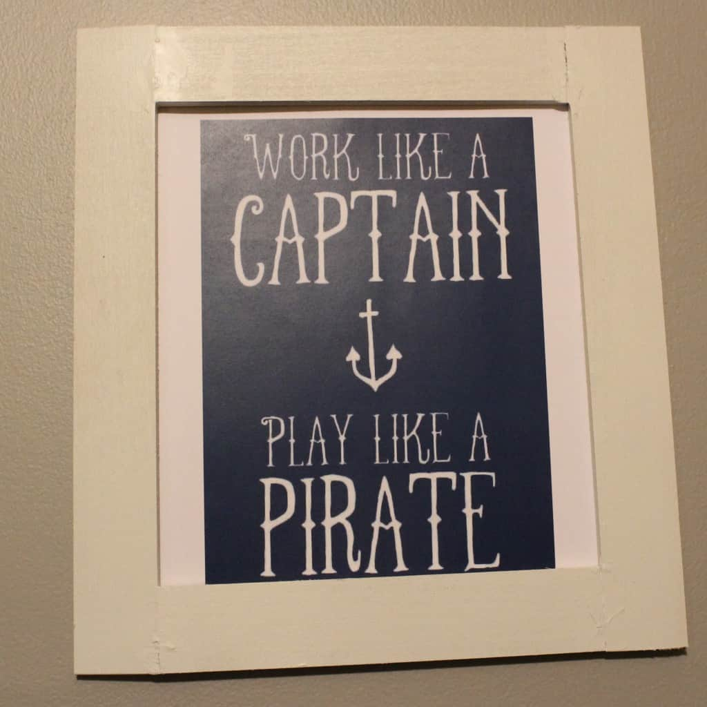 Work Like a Captain Word Art - Charleston Crafted