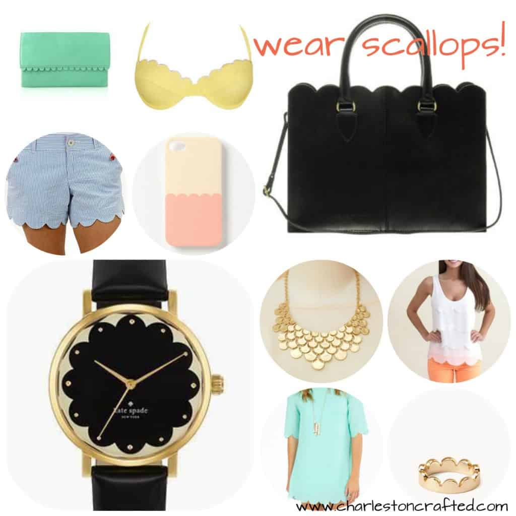 wear scallops collage