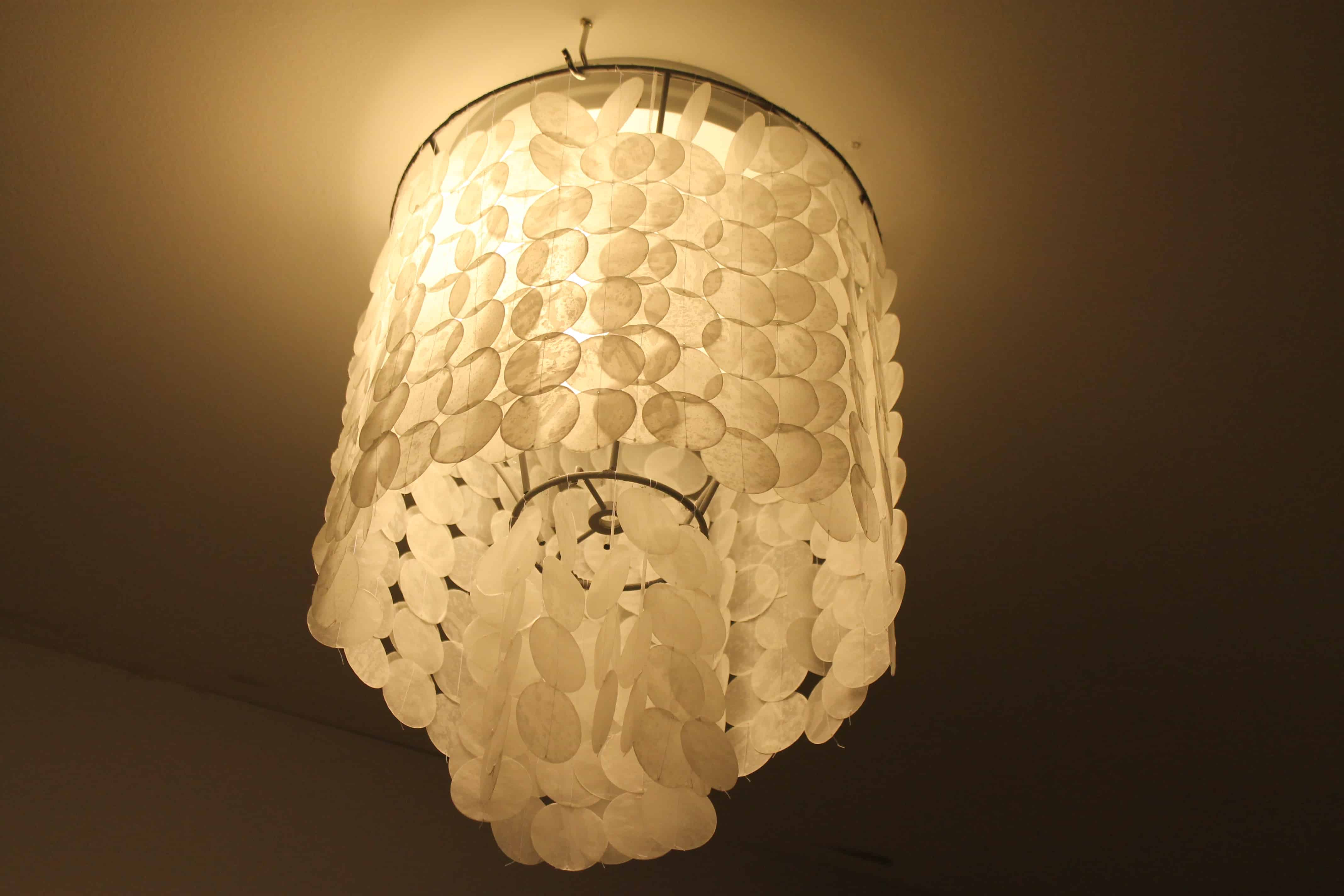 The Easiest Way To Make A Diy Faux Capiz Shell Chandelier