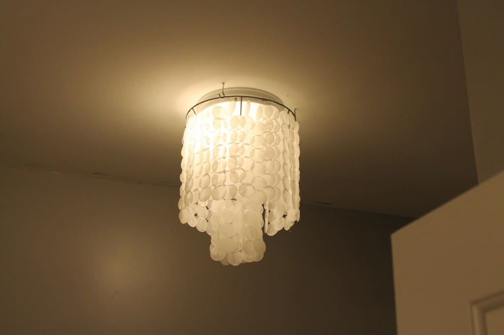 Fau Capiz chandelier - Charleston Crafted