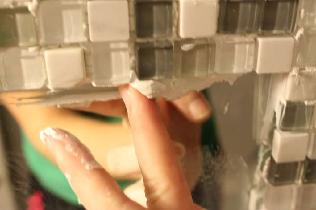 DIY Tile Framed Mirror - Charleston Crafted