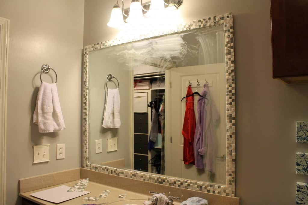 DIY Tile Framed Mirror - Charleston Crafted