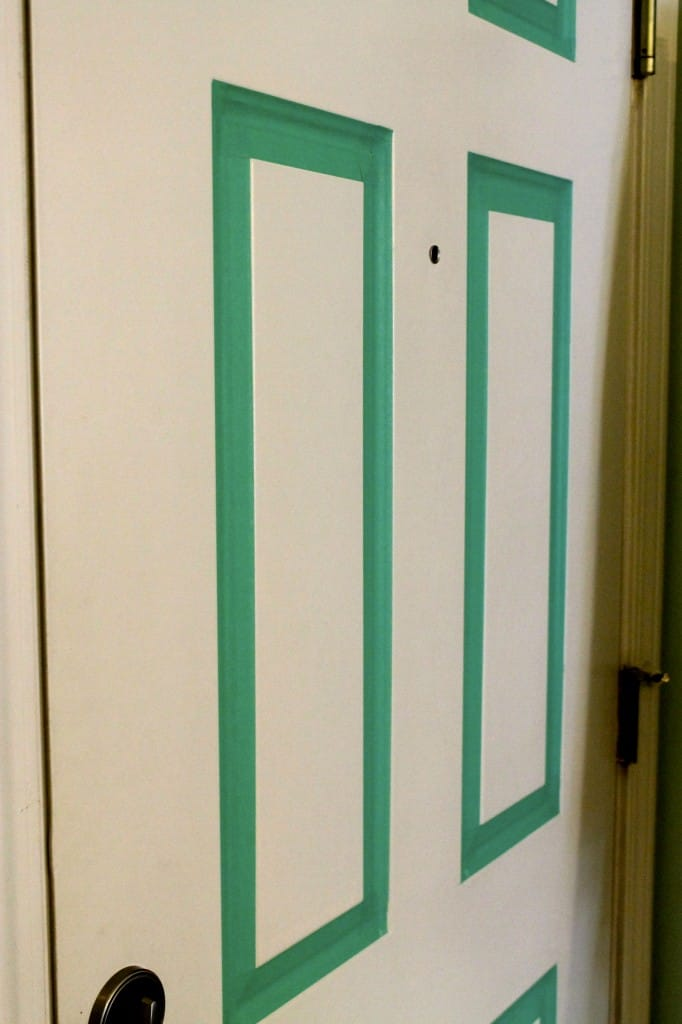 Update Your Front Door... With Masking Tape!