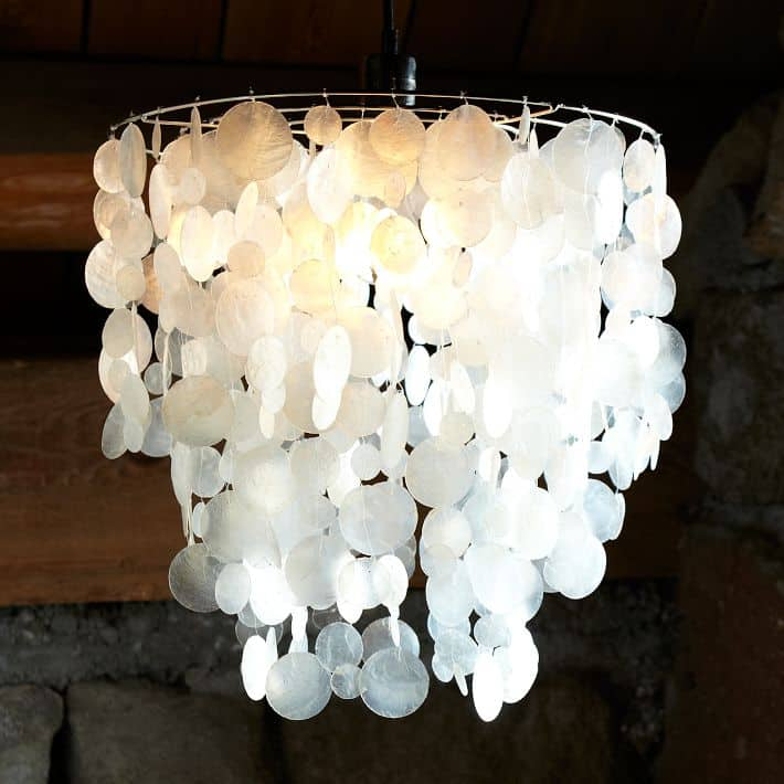 Faux Capiz Shell Chandelier Charleston Crafted