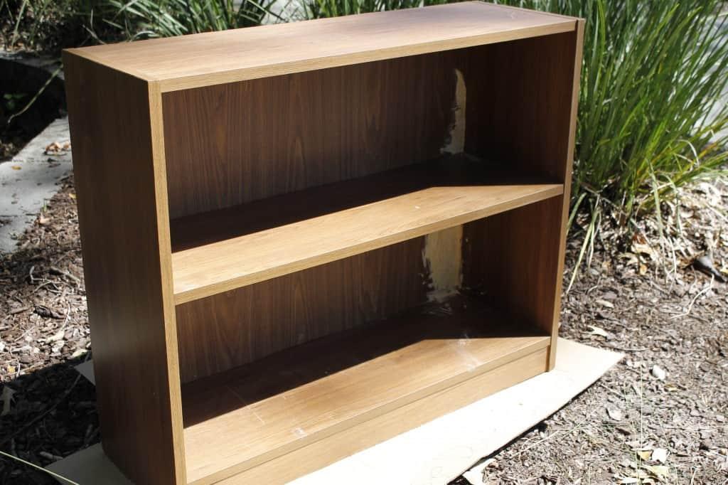 Sprucing up a bookshelf - Charleston Crafted