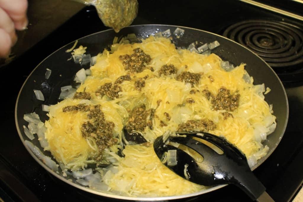 Pesto Spaghetti Squash - Charleston Crafted