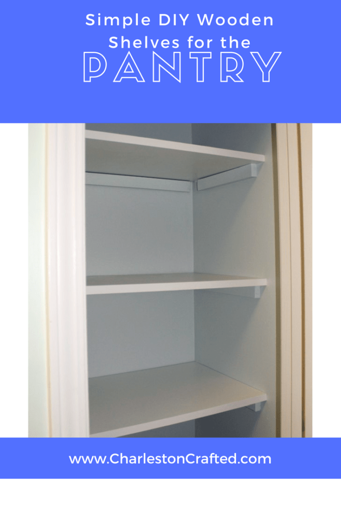 Simple DIY Wooden Shelves for the Pantry - such an inexpensive and easy upgrade from wire shelving! Charleston Crafted