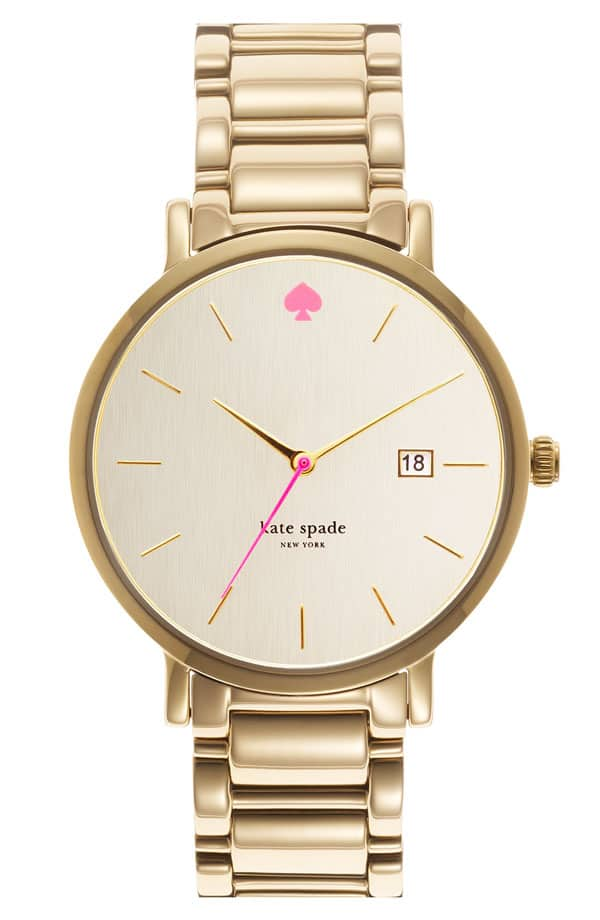 Update Your Clock for daylight savings time - kate spade pink and gold watch