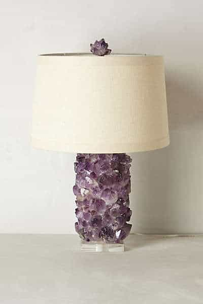 Amethyst lamp inspiration - anthropologie