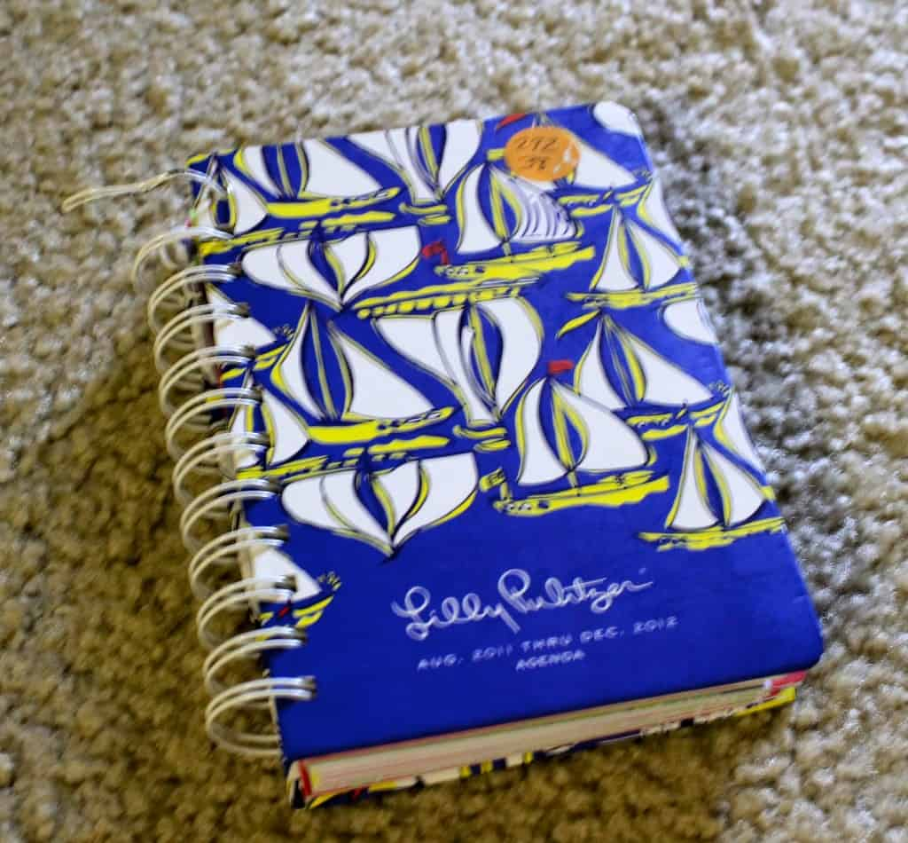 Make a Framed Calendar from a Lilly Pulitzer Planner - Charleston Crafted