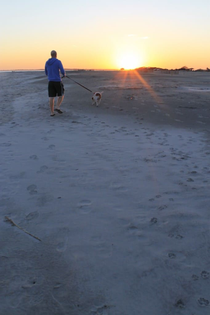 Walk on the beach at sunset - Charleston Crafted