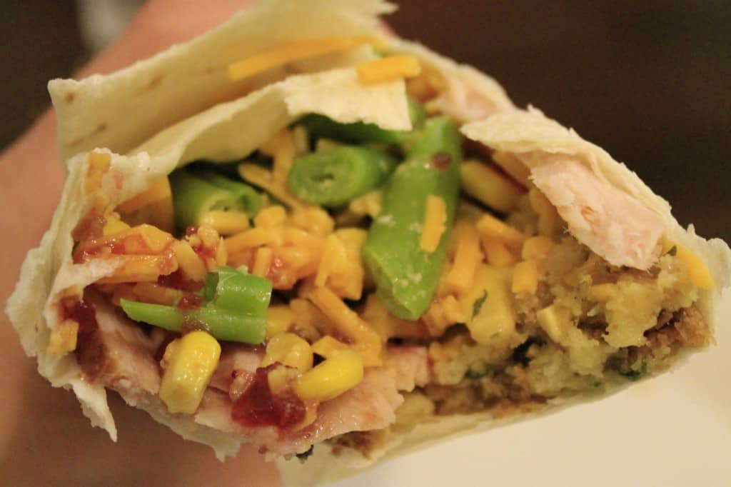 Thanksgiving Leftovers Burritos - Charleston Crafted