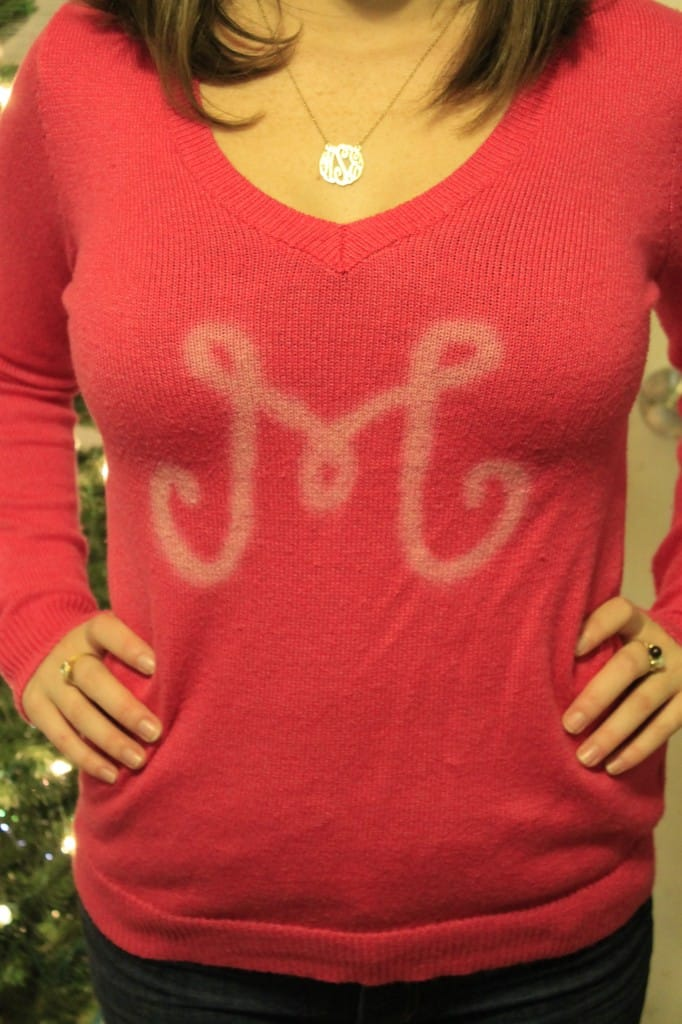 DIY Monogrammed Sweater Inspired by Lilly Pulitzer - Charleston Crafted