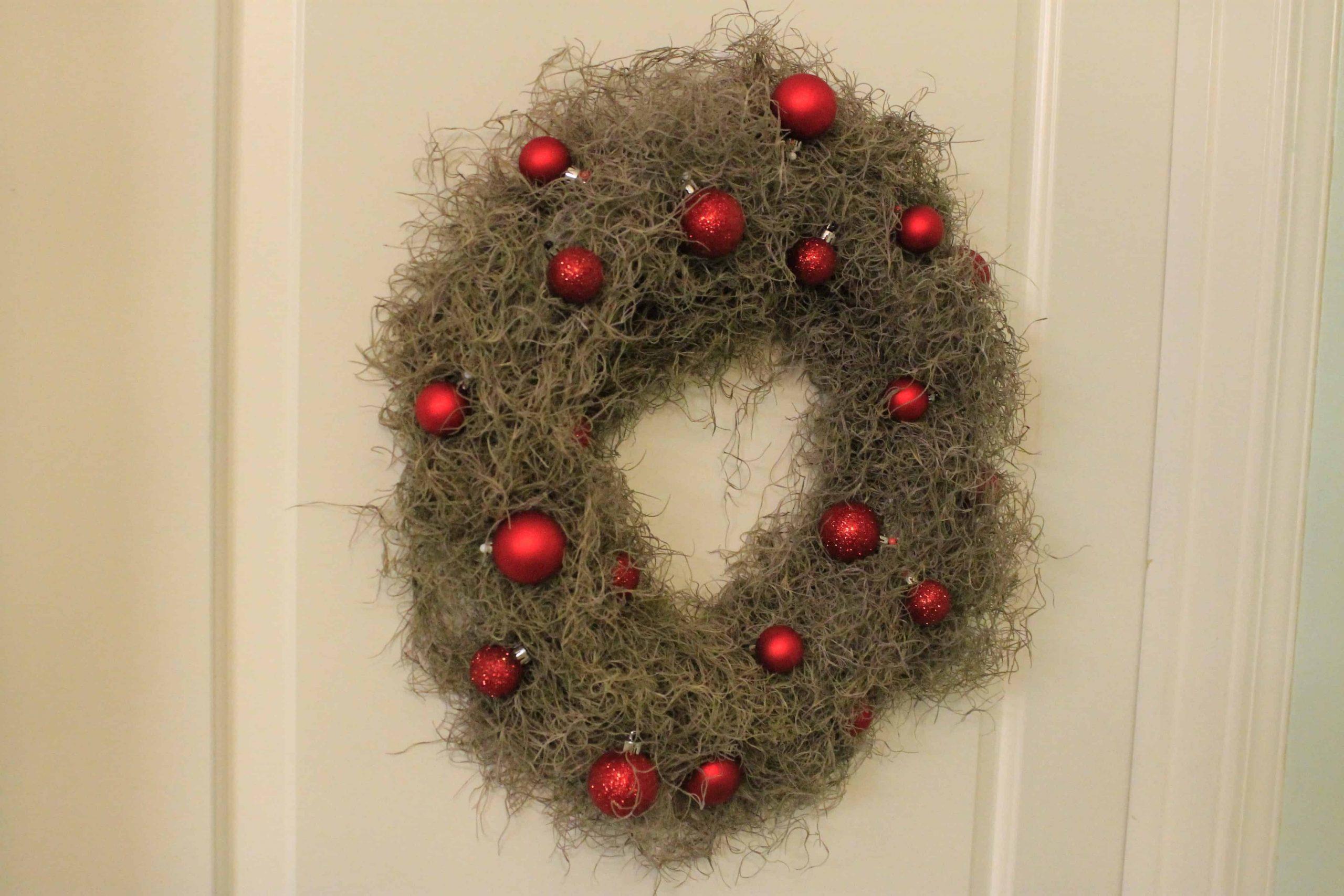 A Coastal Christmas Spanish Moss Wreath