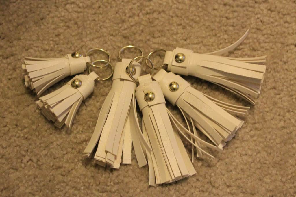 DIY Faux Leather Tassel Keychain Gift Topper - Charleston Crafted